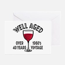 Over 40th Birthday Greeting Cards (Pk of 20)