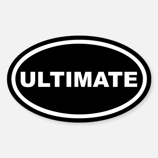 Ultimate Euro Oval Decal