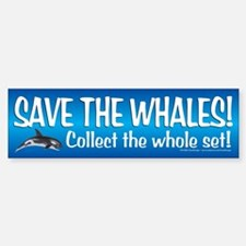 Save the Whales! Bumper Sticker (1)