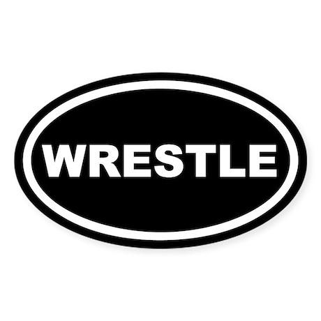 Wrestle Euro Oval Sticker