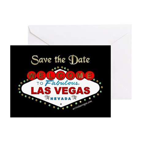 Las Vegas Save the Date Cards b&g (Pk of 10)