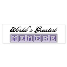 World's Greatest Memere Bumper Bumper Sticker