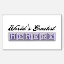 World's Greatest Memere Rectangle Decal