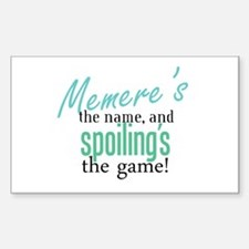 Memere's the Name! Rectangle Decal