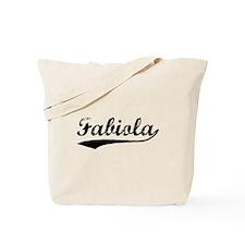 Vintage Fabiola (Black) Tote Bag