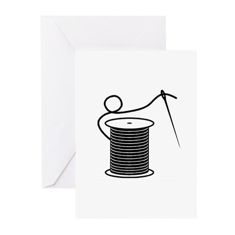 Needle and Thread - Sewing Cr Greeting Cards (Pk o