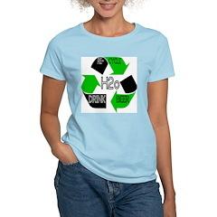 Recycle DRINK BEER Women's Pink T-Shirt