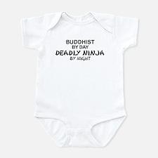Buddhist Deadly Ninja by Night Infant Bodysuit