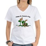 St. Patrick's Day Women's V-Neck T-Shirt