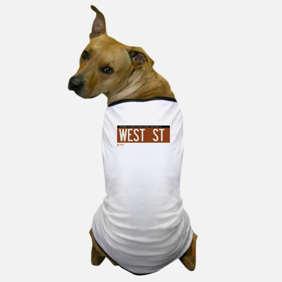 West Street in NY Dog T-Shirt
