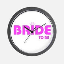 bride to be hrt Wall Clock