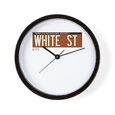 White Street in NY Wall Clock