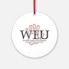Whoop Elbow University Ornament (Round)