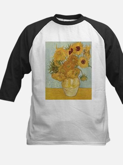 Sunflowers 3 Kids Baseball Jersey