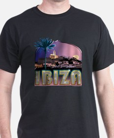 Ibiza Old Town Black T-Shirt