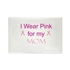 Pink Ribbon - mom Rectangle Magnet