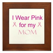Pink Ribbon - mom Framed Tile
