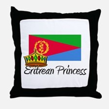 Eritrean Princess Throw Pillow