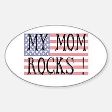 My Mom Rocks ! Oval Decal