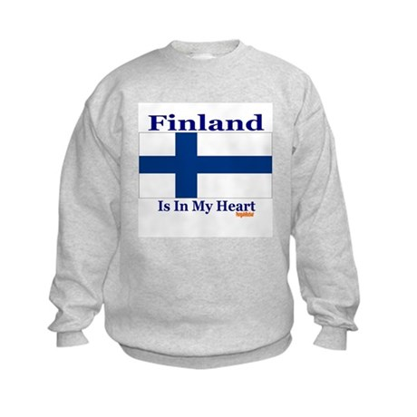 Finland - Heart Kids Sweatshirt