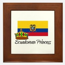 Ecuadorean Princess Framed Tile