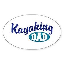 Kayaking Dad Oval Decal