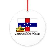 Dutch Antillian Princess Ornament (Round)
