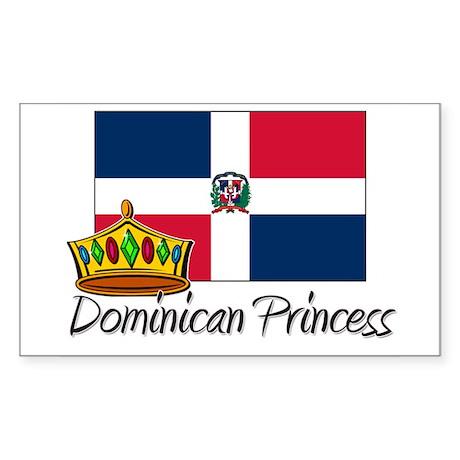 Dominican Princess Rectangle Sticker