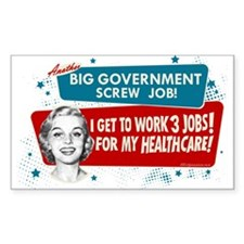 Healthcare Screwjob Rectangle Decal