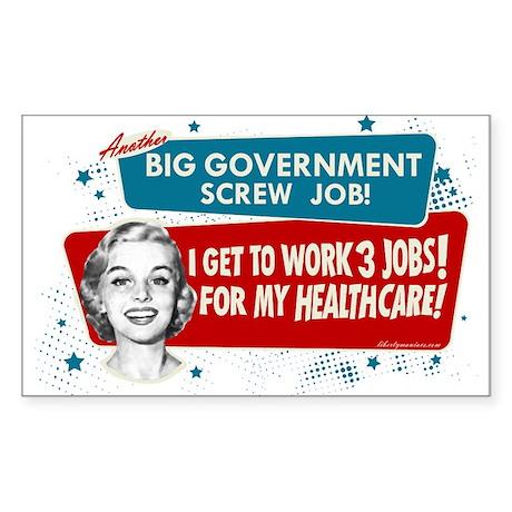 Healthcare Screwjob Rectangle Sticker