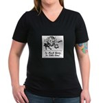 So Much Yarn, So Little Time Women's V-Neck Dark T