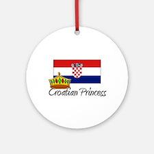 Croatian Princess Ornament (Round)