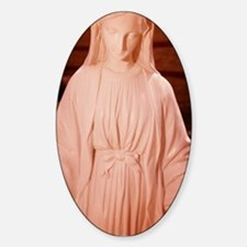 Statue of the Holy Mother Oval Decal