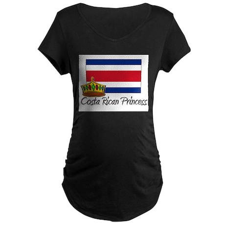 Costa Rican Princess Maternity Dark T-Shirt