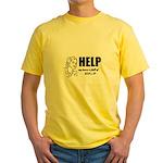 Yarn, Knit, Crochet - UFOs Yellow T-Shirt