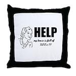 Yarn, Knit, Crochet - UFOs Throw Pillow