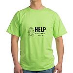 Yarn, Knit, Crochet - UFOs Green T-Shirt