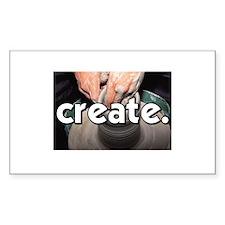 Pottery Wheel - Create - Craf Sticker (Rectangular