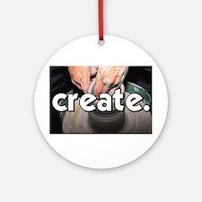 Pottery Wheel - Create - Craf Ornament (Round)