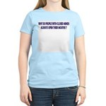 Closed Minded Women's Pink T-Shirt