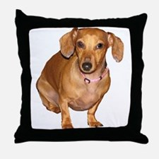 Helaine's Doxie Throw Pillow