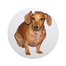Helaine's Doxie Ornament (Round)