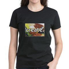 Paint Pallete - Create - Craf Women's Dark T-Shirt