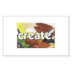 Paint Pallete - Create - Craf Sticker (Rectangular