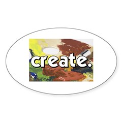 Paint Pallete - Create - Craf Oval Decal