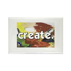 Paint Pallete - Create - Craf Rectangle Magnet (10