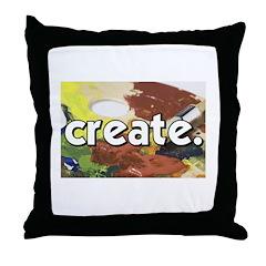 Paint Pallete - Create - Craf Throw Pillow