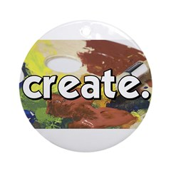 Paint Pallete - Create - Craf Ornament (Round)