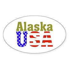 Alaska USA Oval Decal