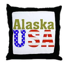 Alaska USA Throw Pillow